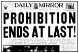 Prohibition repealed, December 5, 1933