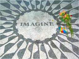 Imagine memorial in Strawberry Fields