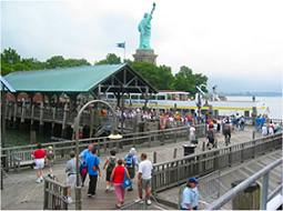 Ferry landing at Liberty Island